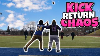 KICK RETURN CHAOS IN REAL LIFE!! (Huge Touchdowns!)