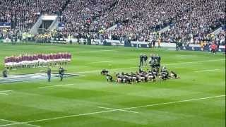 preview picture of video 'NZ Haka drowned out by Swing Low at Twickenham'