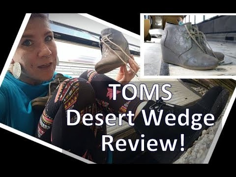 Essential Shoes for Wide Feet: TOMS Desert Wedge!! Bootie Review & Sizing Tips