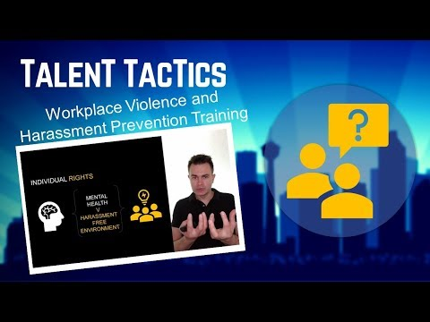 Workplace Violence and Harassment Prevention Training For ...