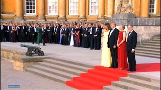 President Trump and First Lady Melania Trump participate in an arrival ceremony  London and Blenheim