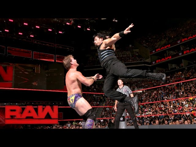 Roman Reigns vs. Chris Jericho: Raw, Aug 22, 2016