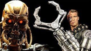 NECA Terminator Power Arm and Metal Mash Endoskeleton Action Figures Review