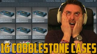 16 COBBLESTONE CASES! (CS:GO Case Opening)