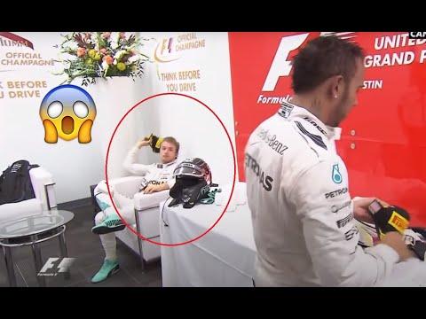 [HD] Rosberg throws a cap in the hamilton head