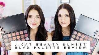 J Cat Beauty Sunset Blvd Palette Review