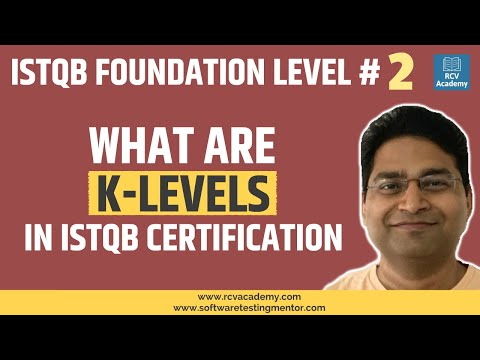 ISTQB Foundation Level #2 - What are K-levels in ISTQB ... - YouTube