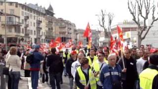 """Manif 19.03.2009 à Nice, France p.5 """"Encore CGT"""""""