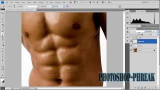 How to Enhance A Six Pack (Photoshop)