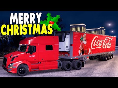 CRAZY SNOW STORM SURVIVAL | Christmas Cola Convoy | American Truck Simulator Gameplay