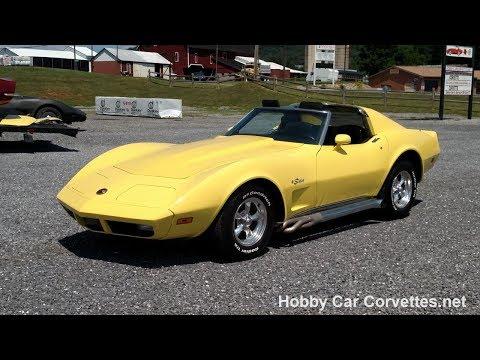 1974 Bright Yellow Corvette For Sale Video