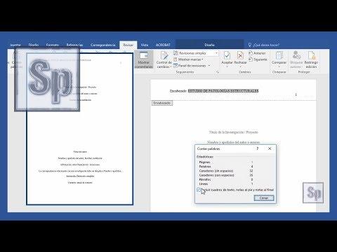 Word - Cómo hacer portada según normas APA - Vídeo mejorado - portada word