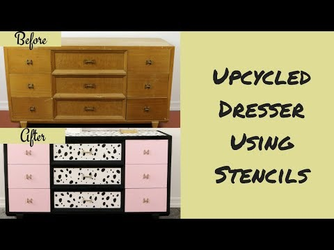 Furniture Flip: Millennial Pink & Dalmatian Pattern Dresser Inspired by Kate Spade