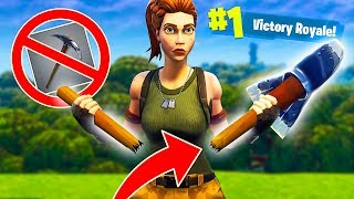 99% IMPOSSIBLE NO PICKAXE CHALLENGE! - Fortnite