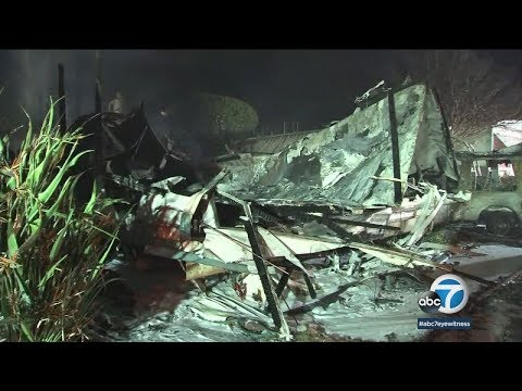 Canoga Park mobile home destroyed in fire | ABC7