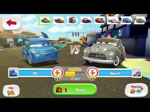 Expensive Disney Pixar Cars DJ Unlocked Vs Police & Monster Truck Game Play For Kids