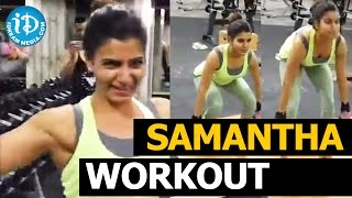 Samantha Gym Video – Lifting 100 kg's Deadly Weight