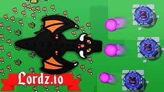 NEW MAGE TOWERS DESTROY DRAGON ARMY! - Lordz.io Gameplay