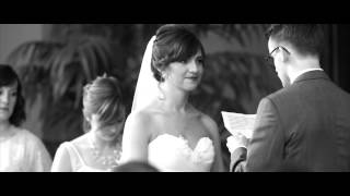 Ariel And Andrews Black And White Wedding Film