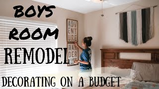 BOYS BEDROOM MAKEOVER // DECORATE ON A BUDGET // THEMED BOYS BEDROOM