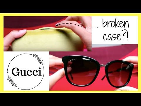 GUCCI SUNGLASSES REVIEW / UNBOXING