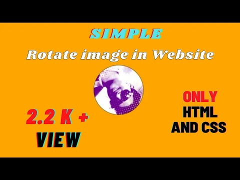How To rotate image in HTML and  CSS