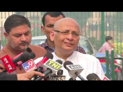 Abhishek Manu Singhvi addresses media over the SC judgment on the disqualified MLAs.