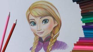 Смотреть онлайн Как поэтапно рисовать Анну из «Холодного сердца»