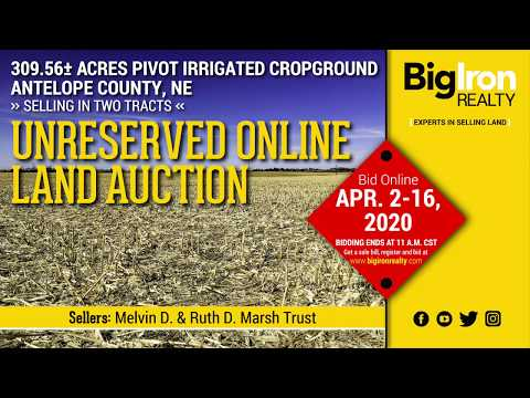 Land Auction 309.56+/- Acres Antelope County, NE Selling in 2 Tracts