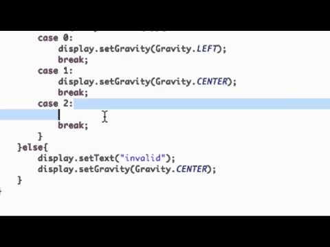 Android Application Development Tutorial - 32 - Switch and Case