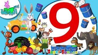 اناشيد الروضة - تعليم الاطفال - المجموعة (9) الوان - الفواكه - المقارنات - ارنوب -اصوات الحيوانات