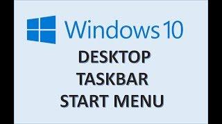 Windows 10 - Taskbar Desktop Start Menu - How to Change and Customize Toolbar in Microsoft Computer
