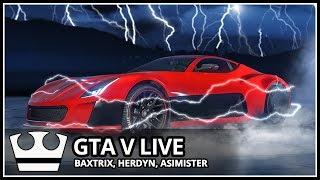 Jirka, Baxtrix, Herdyn a Asimister Hraje - GTA V Online - Nové elektrické auto! [ LIVESTREAM ]