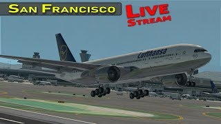 San Francisco International Airport with Live ATC  and Airline Flight Schedules | X-Plane 11