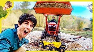 Tractors Loading up Dump Trucks!