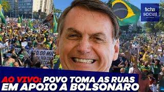 POVO TOMA AS RUAS EM APOIO AO PRESIDENTE JAIR BOLSONARO
