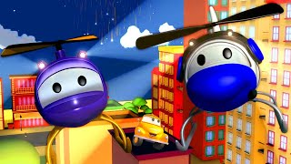 Tow Truck for kids -  Hector the Helicopter - Tom The Tow Truck in Car City