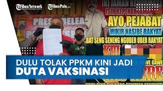 Dulu Tolak PPKM Darurat dengan Tulis Makian di Baliho,Kades Sragen Kini Jadi Duta Vaksinasi Covid-19