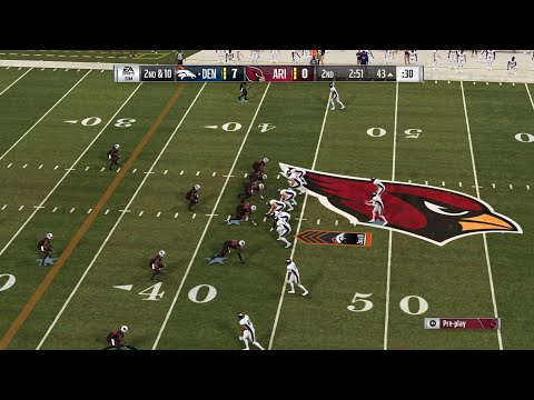 NFL 2018 Week 7 - Denver Broncos vs Arizona Cardinals - Full Game - Madden NFL 19 PS4 PRO - HD