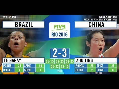 Brazil. VS. China Olympics 2016 Rio Volleyball