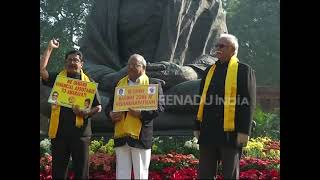 TDP MPs protest in Parliament over special status for AP