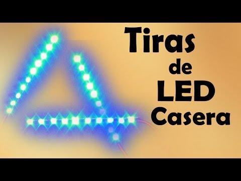Cómo Hacer Tiras de LED Casera ( Muy fácil de hacer)