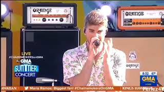The Chainsmokers playing out my Sick Boy Remix on Good Morning America!