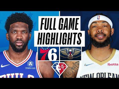 New Orleans Pelicans vs Philadelphia 76ers</a> 2021-10-21