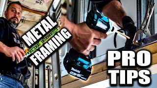 Metal & Wood Stud Framing (PRO CARPENTER SHOWS BEST WAY)