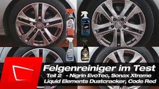 Sonax Xtreme Felgenreiniger, Nigrin EvoTec, Liquid Elements Dustcracker, Surf City Garage Code Red