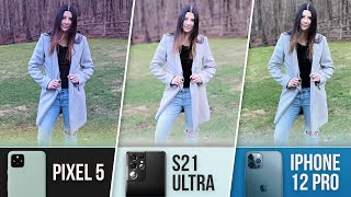 S21 Ultra Camera VS iPhone 12 Pro VS. Pixel 5!