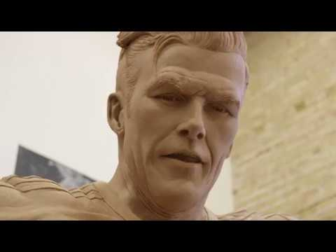 A Behind-the-Scenes Look at the making of David Beckham's statue | #BeckhamStatue (видео)
