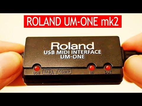 Roland UM-ONE mk2 tested with Roland JV-1010 & GM music