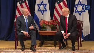 President Donald Trump Meets Israeli Prime Minister Benjamin Netanyahu at the United Nations